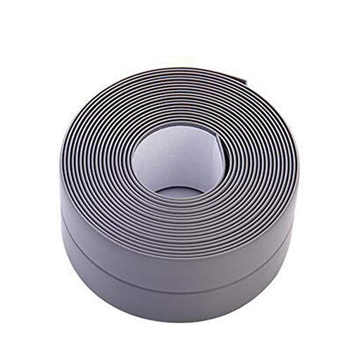 Caulk Strip Tape for Bathtub Wall Sealing Tape Strip PE Self Adhesive Waterproof Caulk Sealer Decorative Trim for Kitchen Bathroom Shower Toilet Wall Corner 38mmx3.2m/1.5x126inch