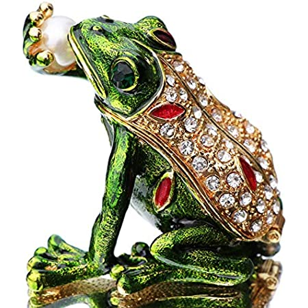 DIYthinker Paint Small Frog Green Art Deco Gift Fashion Necklace Antique Guitar Jewelry Music Pendant