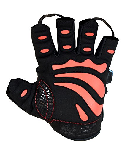 Gym Gloves Protect Your Hands & Improve Your Grip Weightlifting Grips (Red, Medium)