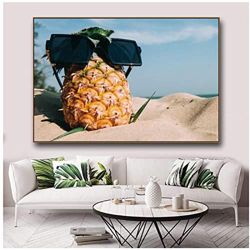 woplmh Desert Pinesapple canvas schilderij & kalligrafie muurkunst muurposters en afdrukken wandafbeeldingen voor woning wooncultuur -60x90cm (geen lijst)