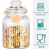 Zoom IMG-1 4 barattoli di vetro bomboniere