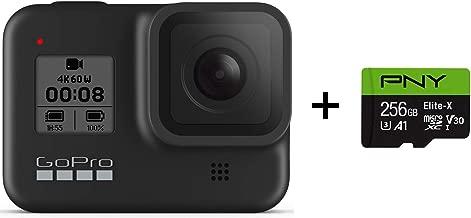 GoPro HERO8 Black + PNY Elite-X 256GB U3 microSDHC Card (Bundle)