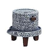 Cenicero Cenicero de cerámica a Prueba de Viento con Tapa for Fumadores, Adecuada for sobremesa, Patio, Oficina de la decoración del hogar, la Bandeja de Ceniza Gris