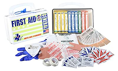 Certified Safety K202-012 10PW ANSI General Purpose First Aid Kit in Poly White by Builders World Wholesale Distribution