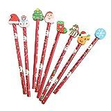 Toyvian Matita di Natale con matite fisse in gomma per bambini Studenti 24 pezzi (stile casuale)