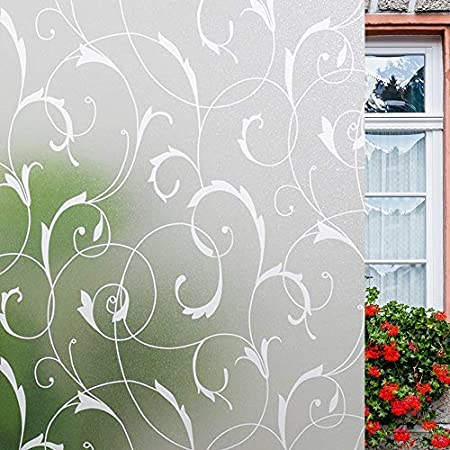Vine Static Cling Stained Window Film Sticker Glass Door Privacy Sticker T4R9