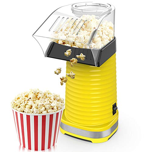 Learn More About Hot Air Popcorn Maker, Popcorns Machine, Home-Made Healthy Hot Air swirling Popcorn...