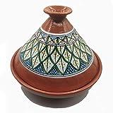 Tajine Pentola Terracotta Piatto Etnico Marocchino Tunisino XL 32cm 2910201101