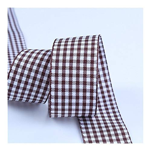WLKJ Plaid Ribbon, Bowknot Ribbon, Gift Wrapping Polyester Ribbon (Color : S011, Size : 10mm Wide)