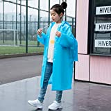 GGhaohong Original 1pc Kids Boys/Girls PVC Hooded Long Section Raincoat Children Safety Raincoat -