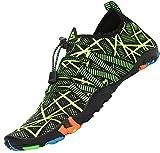 Tmaza Escarpines Hombre Mujer Escarpines Piscina Secado Rápido Antideslizante Zapatos para Deportes Acuaticos Verde Brillante 43 EU