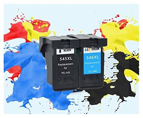 TZZD Aplicable para cartuchos de tinta refabricados 545XL 546XL para impresoras Canon PG545XL CL546XL Pixma IP2850 MX495 MG2450 MG2550 MG2950 NS28 (color 1negro).