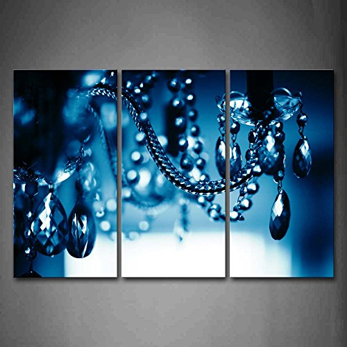 Firstwallart Chandelier Blue Dark Wall Art Painting Pictures Print On Canvas Art The Picture For Home Modern Decoration