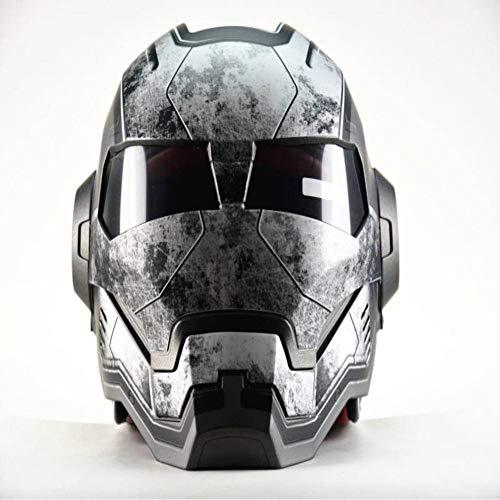 Casque professionnel de course arc-en-ciel pare-soleil motocross visage intégral antichoc casque scooter vtt vtt noir mat