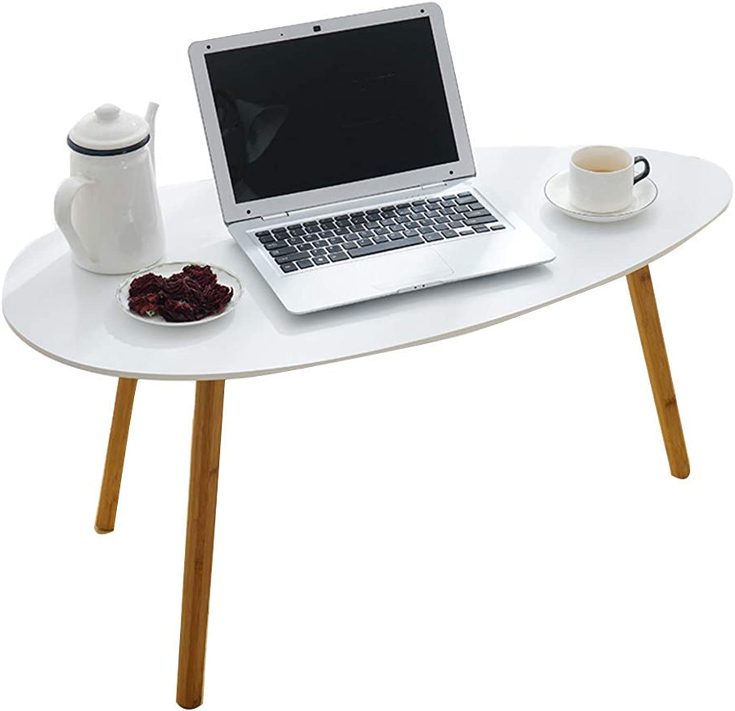 Axdwfd Computer Table Coffee Decorative Surface for Home Office Living Room Sofa Side Table 73.3  39  45.5 (cm) White