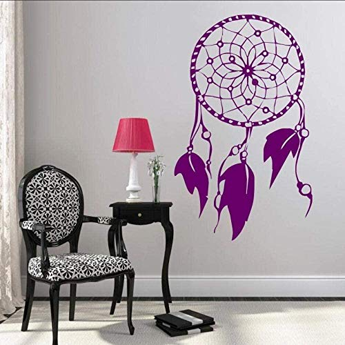 Indian Style Feather Decal Wall Sticker, Vinyl Wall Sticker for Family Bedroom Decoration 36x57cm