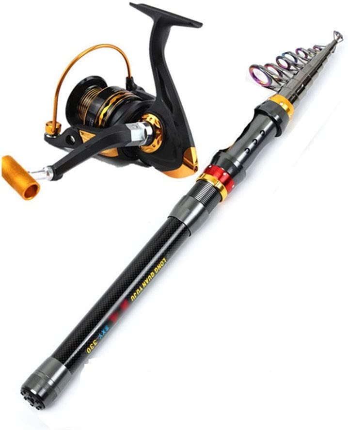 YINGZI Portable Fishing Industry No. 1 Reel and 2.1m Combo Rod 2.4 Max 78% OFF 1.8m