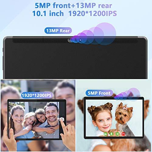 Tablet 10 Zoll Android 10.0, 5G WiFi Google Tablet Pad, 32GB ROM 128GB erweiterbar,Octa-Core-Prozessor,13MP & 5MP Kamera, 1920 x 1200 IPS FHD-Display, GPS WiFi Buletooth OTG 10,1
