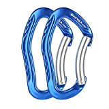 XINDA Nonlocking Climbing Carabiner Clip - Climbing Slings and Quickdraw Set, Straight Gate and Bent Gate...