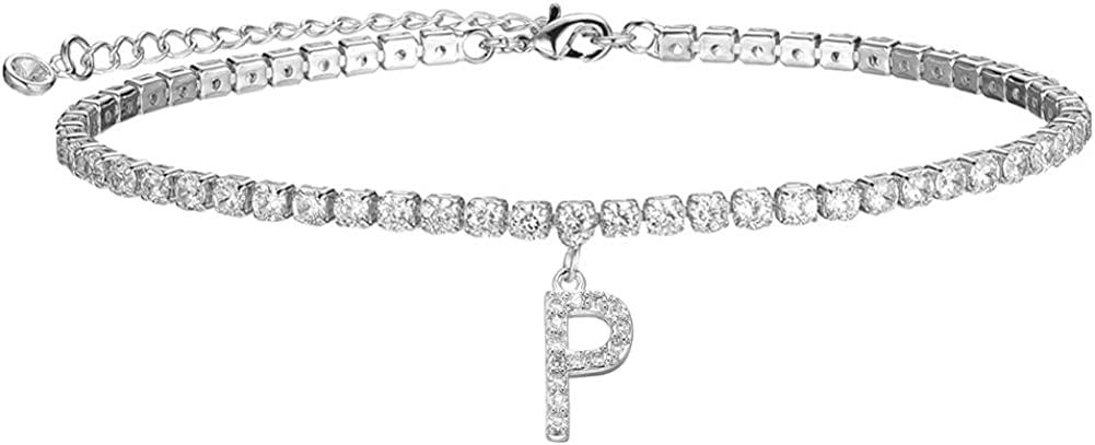 Ankle Bracelets for Max 70% OFF Women Initial St Complete Free Shipping AAA+ Zirconia Cubic Anklet