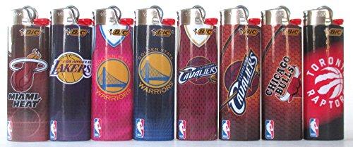BIC Feuerzeuge der Basketball-Serie, 8 Stück