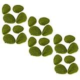 D DOLITY 16x–Pelotas de Musgo Piedras Musgo Verde Planta Artificial decoración para Acuario Jardín