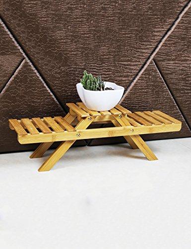Simples et créatifs Office Bureau étagère de Fleurs Multicouches (Bambou)