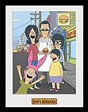 GB Eye Bobs Burger Family Kunstdruck, gerahmt, Mehrfarbig,