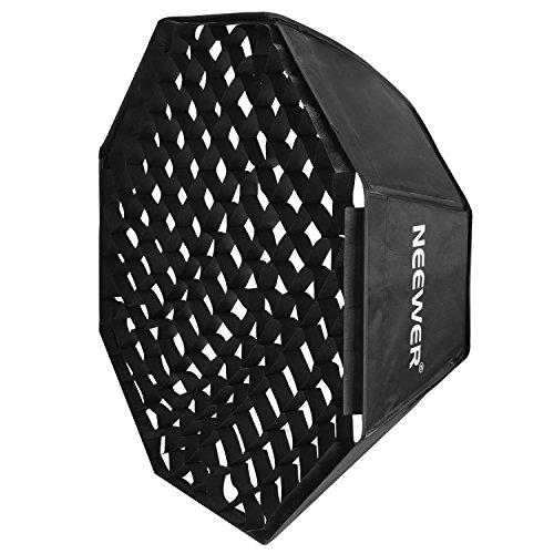 Neewer Flash Softbox Octagonal 80x80 centímetros con rejilla y Bowens Mount Speedring Compatible con Nikon Canon Sony Pentax Olympus Panasonic Lumix Neewer Flash
