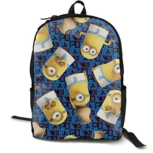 Minions Funny Backpack School Supplies for Students Girls Boys Laptop Bookbag Shoulder Bag Travel Sports for Men Women