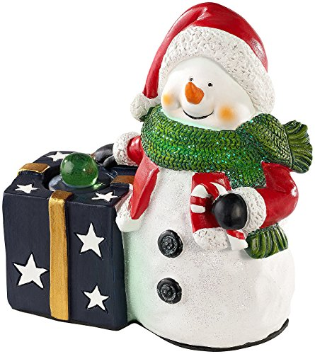 Callstel Lautsprecher ohne Kabel: Weihnachtlicher Schneemann Lautsprecher mit Bluetooth, 8 Watt (Geschenkideen für Weihnachten)
