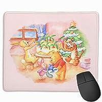 マウスパッド 面白いくまのプーさんのクリスマス 防水 耐久性 洗える 滑り止め 高級感 オフィス おしゃれ かわいい 25x 30x 0.3cm