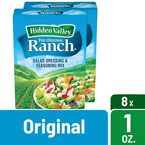 Hidden Valley Original Ranch Salad Dressing & Seasoning Mix, Gluten Free - 8 Packets, 1 Oz