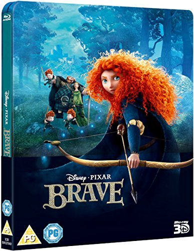 Brave Steelbook Walt Disney 2017 Brave 3D Includes 2D Version- UK Exclusive Lenticular Edition Steelbook Blu-ray Region Free