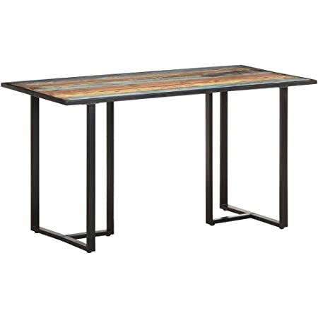 vidaXL Table de Salle à Manger Table de Cuisine Table à Dîner Table de Repas Meuble de Cuisine Maison Intérieur 140 cm Bois de Récupération Massif