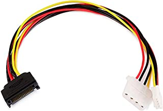 Monoprice 12-Inch SATA 15-Pin Male to 4-Pin Power Cable (107642)