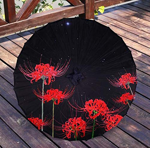 NJSDDB paraplu, zijde, stof, kant