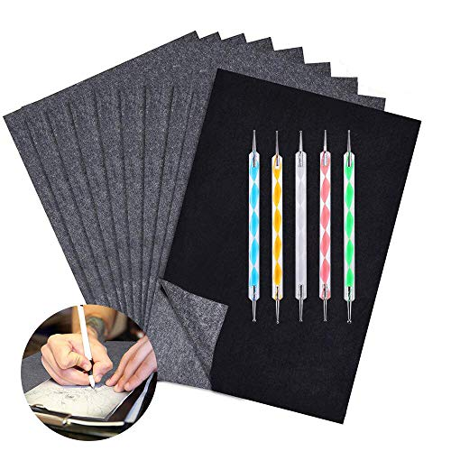 100 Blatt Kohlepapier, A4 Graphitpapier Transferpapier, Carbon Papier Pauspapier und Kopierpapiere mit Prägestift-Set, Idee für Holz, Papier, Leinwand und Andere Kunstoberflächen Transparentpapier