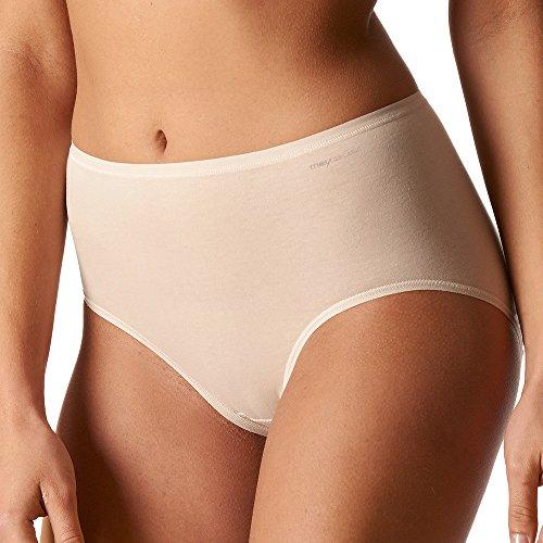 Mey 2er Pack Damen Taillenslip - Organic - 29818 - Damen Slips aus Bio Baumwolle - Bodysize ohne Seitennähte - Farbe Schwarz- Größe 44
