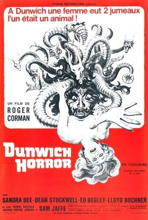 The Dunwich Horror – French Movie Wall Poster Print - A4 Size Plakat Größe