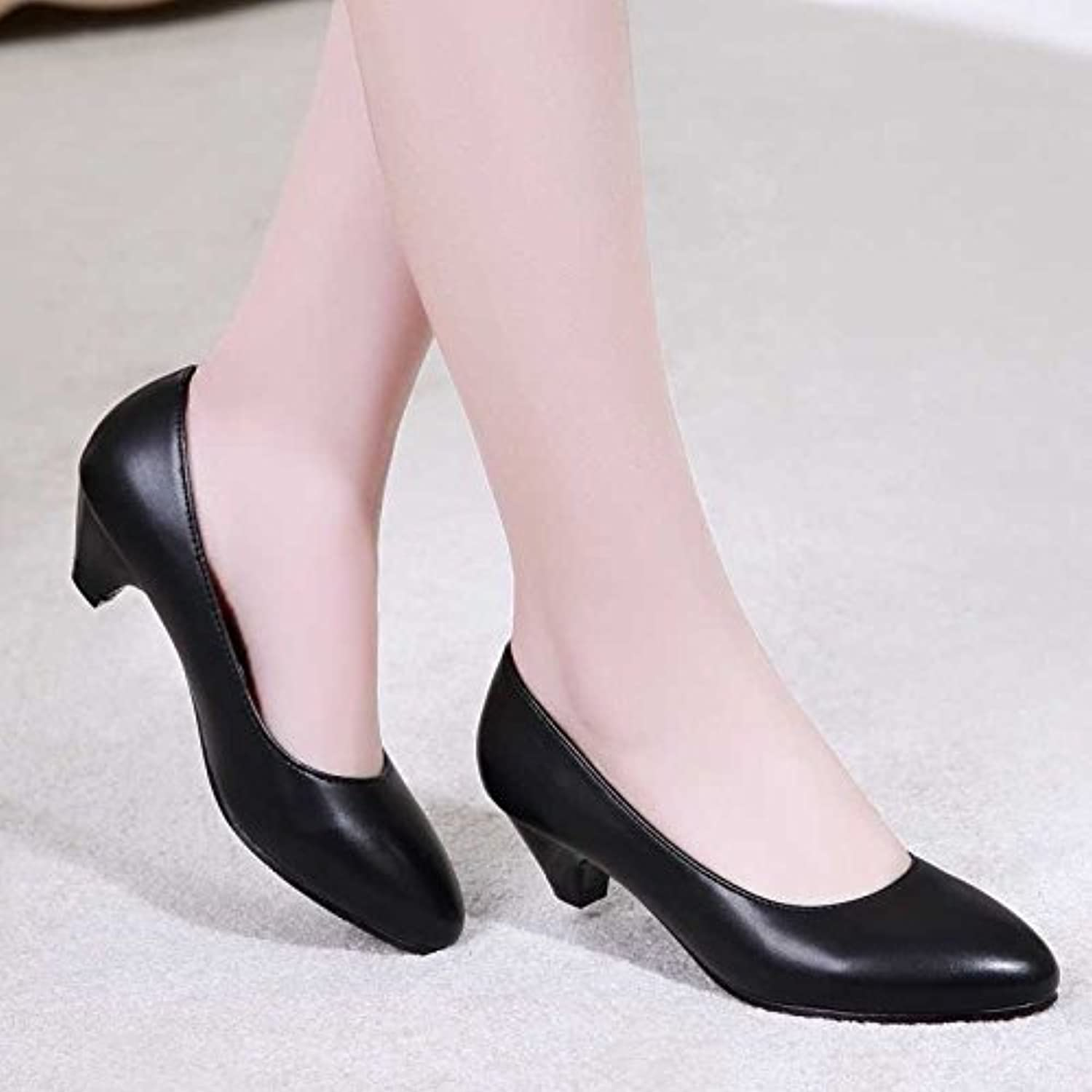 GAOLIM The End Of The Summer Black Soft shoes, Women Work With Anti-Slip Women'S shoes Occupational Light-Girl Painless Work shoes