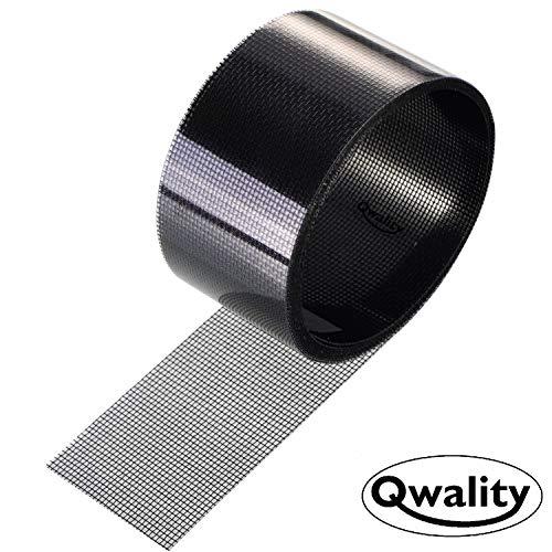 Hor Reparatie Tape – Plakkend - Zwart- Eenvoudig uw hordeur, Plissé schuifpui hor of raamhor repareren – Horgaas reparatietape - Qwality4u