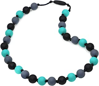 Sensory Chew Necklace for Kids and Adult, Boys and Girls - Chewable Necklace for Teething, Autism, Biting, ADHD, SPD, Chewing Jewelry by LeeYean - Aqua