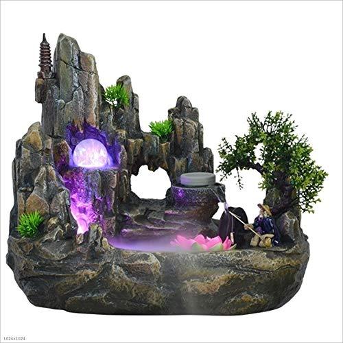 Hogar y Cocina Fuentes de Interior Tabla Fuente de rocalla Feng Shui Paisaje de la montaña de Escritorio for humidificador Accesorios de la decoración (tamaño : Medium)