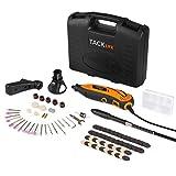Tacklife Mini meuleuse électrique avec outils rotatifs, kit de 80pièces et 3accessoires, vitesse variable