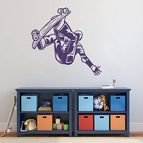 YuanMinglu Cruiser Board Stunt Air Skill Aufkleber Wandkunst Skateboard Sport Aufkleber Home und Schlafzimmer Dekoration 74x63cm