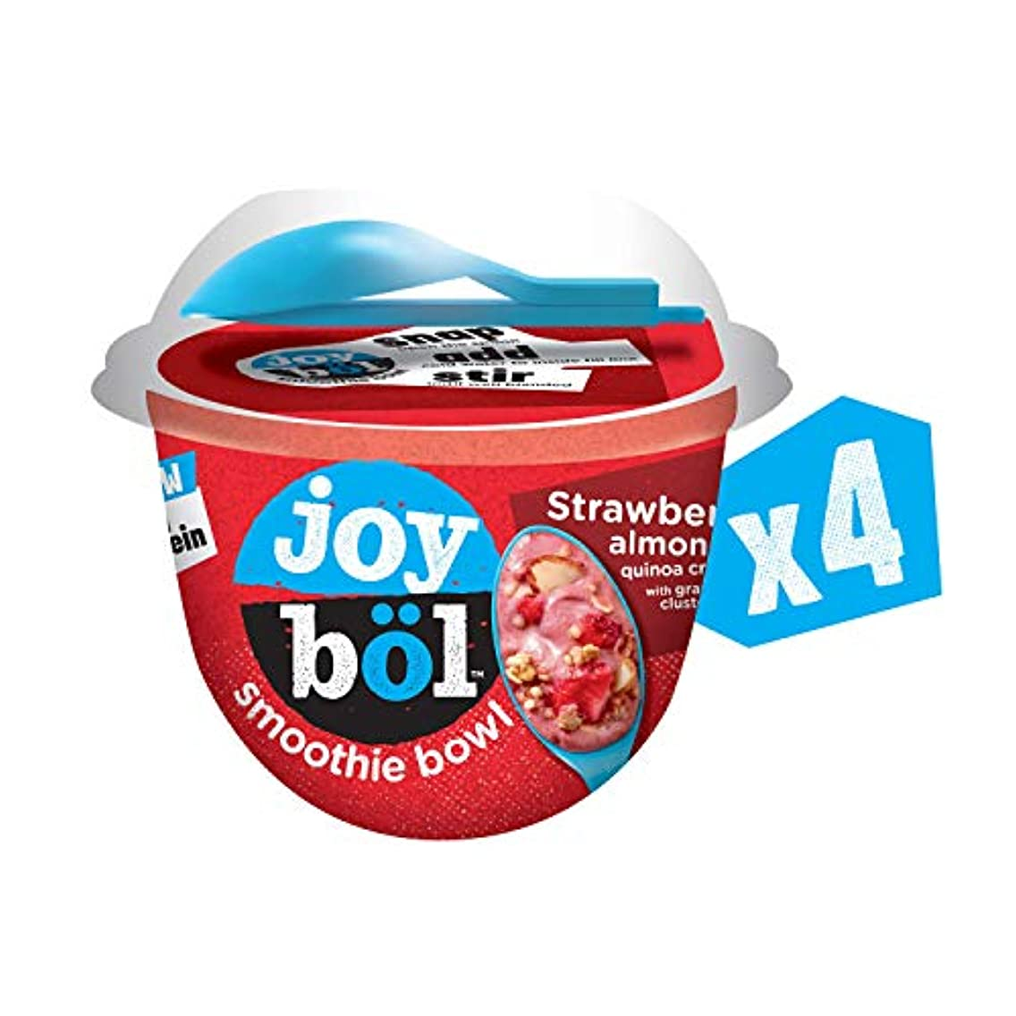 joyb?l Smoothie Bowls, Strawberry Almond Quinoa Crunch, Easy Breakfast, Non-GMO, 4 Count