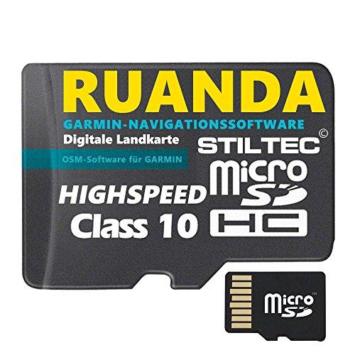 "Preisvergleich Produktbild Ruanda ""le Rwanda""Topo GPS Karte GB microSD Card für Garmin Navi,  PC & MAC für Garmin Navigationsgeräte Navigationssoftware ORIGINAL von STILTEC ©"