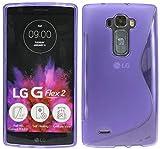 ENERGMiX Silikon Hülle kompatibel mit LG G Flex 2 Tasche Bumper Silikonschale Silikonschutz Hülle Gummi Schutzhülle Zubehör in Violett