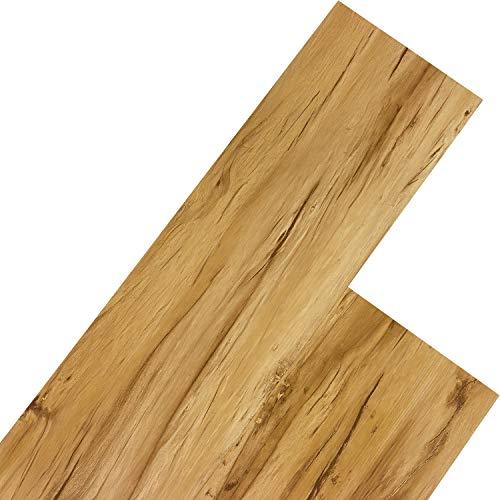 STILISTA Vinyl Laminat Dielen, 15 Dekors wählbar, 5,07m² oder 20m², rutschfest, wasserfest, schwer entflammbar - 5,07m² Apfelholz warm